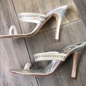 Used GINA Bocconi Heeled Sandals SZ 7.5 (37.5)